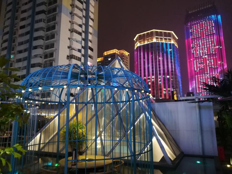 比如新朝阳商场的楼顶,麦族室内动物园就要下来准备搞餐厅.