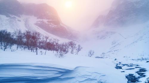 冬季长白山大峡谷