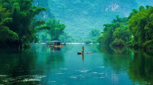 Rafting at calm water
