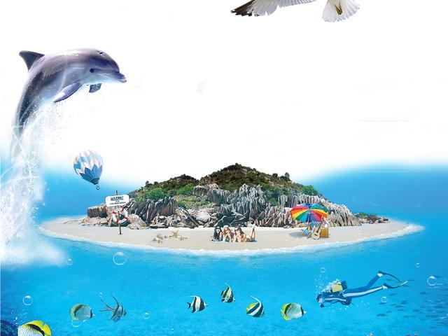 <三亞分界洲島1日游>可升含餐,海洋劇場館、含旅拍、多區域接送、免稅點穿梭巴士