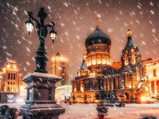 <哈尔滨+亚布力滑雪+雪乡双飞5日游>穿越冰雪画廊游乐园高山动物园、泡寒地温泉、品鳇鱼宴