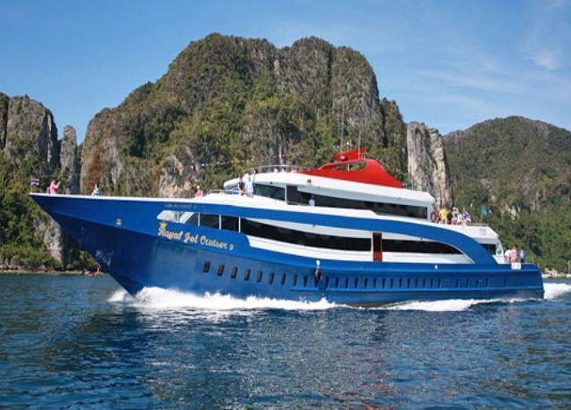 <甲米—皮皮島往返大船船票(Andaman Wave船公司/Aonang Travel船公司/甲米酒店接送)>