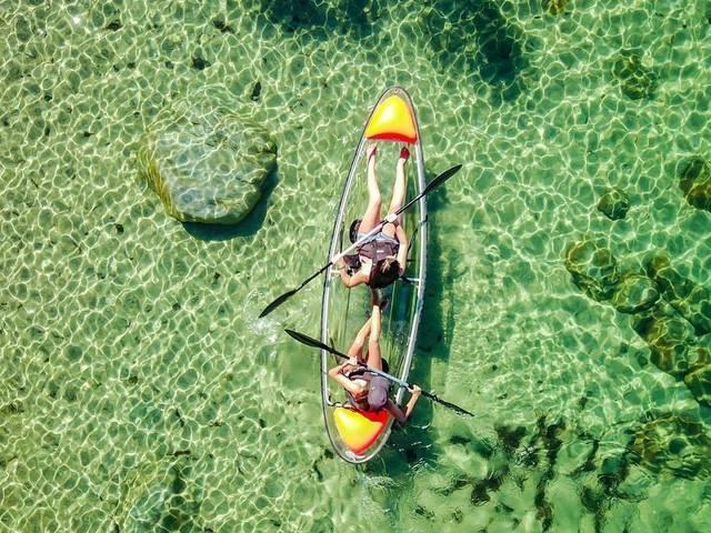 <泰国芭提雅一日游芭堤雅水晶湾天堂岛水上项目潜水出海浮潜一日游>多套餐选择,水晶湾3次浮潜体验、天堂岛观景探险